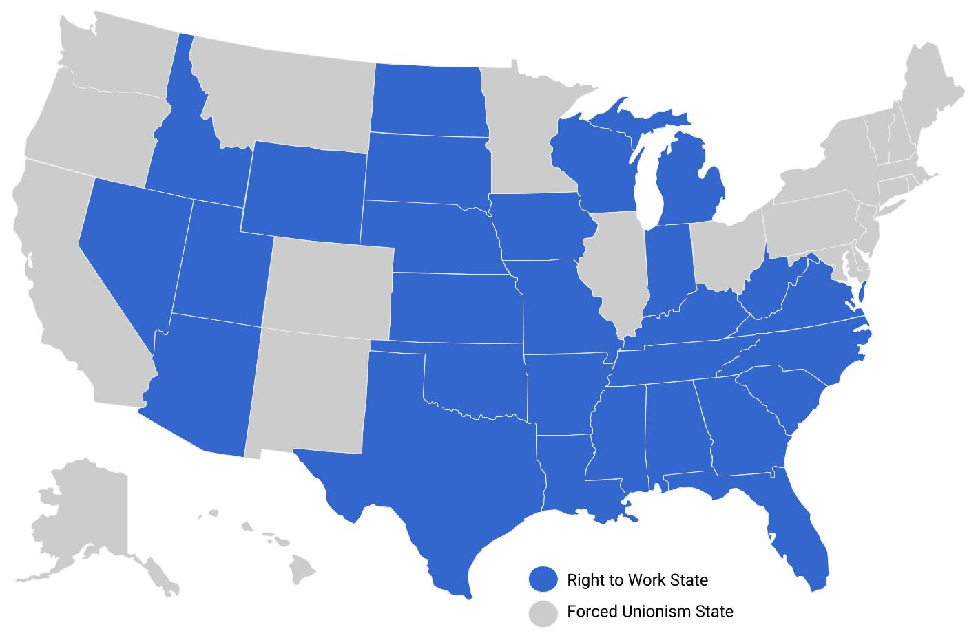 National Right to Work Foundation » Right to Work States
