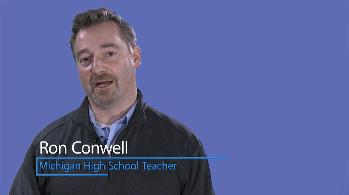 Ron Conwell Michigan High School Teacher