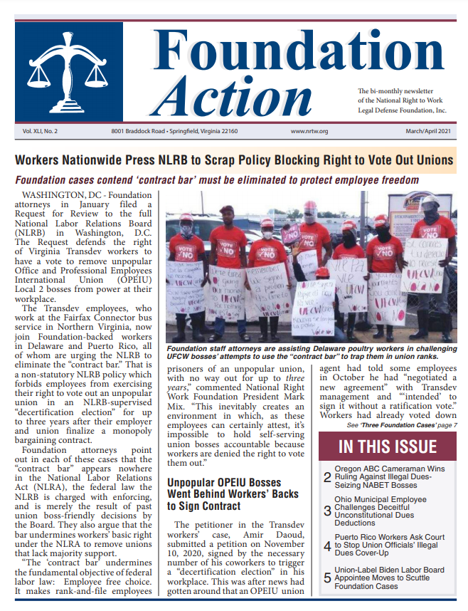 Foundation-Action March April 2021 Cover